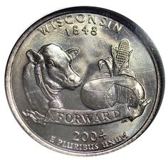 State Quarter Errors List Error on the Wisconsin coin: extra low leaf on corn. Rare Coins Worth Money, Valuable Coins, Valuable Pennies, Penny Values, State Quarters, Coin Worth, Error Coins, Coin Values, Old Money