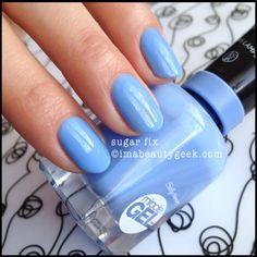 Sally Hansen Sugar Fix Miracle Gel Blue Gel Nails, Shellac Nail Art, Oval Nails, Diy Nails, Nail Polish Colors, Gel Polish, Sally Hansen Nails, Corte Y Color, Colorful Nail Designs
