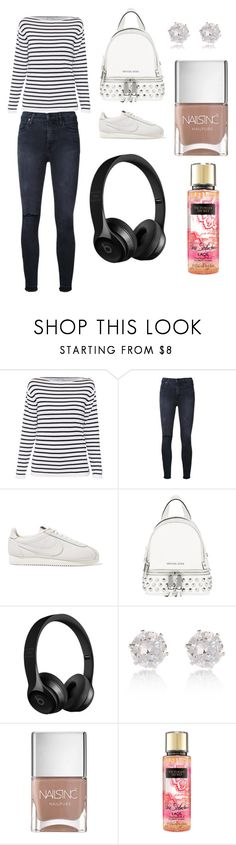 """Sans titre #6293"" by merveille67120 ❤ liked on Polyvore featuring Nobody Denim, NIKE, Michael Kors, River Island and Nails Inc."