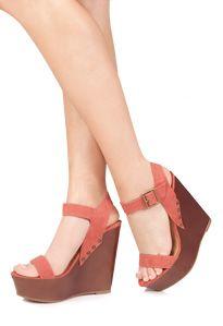 Cuñas de las mujeres , de pie alto en Venta superior zapatos de cuña de  JustFab