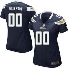 e6ac44c8 Nike San Diego Chargers Customized Navy Blue Stitched Elite Women's NFL  Jersey Myles Garrett, Nfl