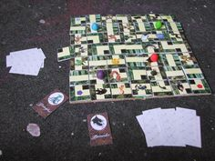 Bazooka Crafts: Harry Potter Swap on Craftster Part I Labyrinth Boardgame