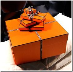 love speaks in Hermes orange