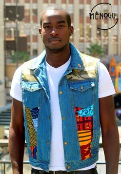 Ankara Patch Vest