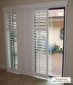 Prodcut image decorating ideas pinterest glass doors doors modernize your sliding glass doors with sliding plantation shutters planetlyrics Images