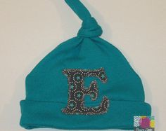 Teal Knotted Baby Hat, Teal Baby Hat, Newborn Hat, Baby Cap, Jersey Baby Hat, Baby Shower Gift, Personalized Baby Hat