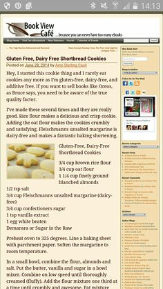 Rice, oat, almond gf shortbreadcookie