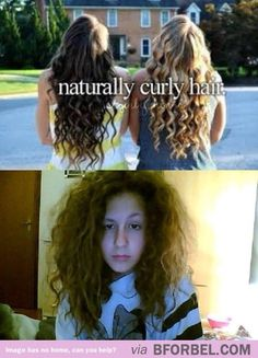 Haha right. If the tops shot was naturally curly hair, the curls wouldn't start halfway down the head!