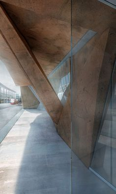 Concrete And Corten Steel Abandoned Building Articulation