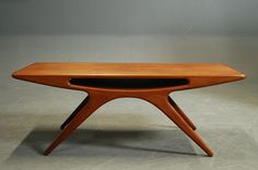 Smile Table / UFO Table by Johannes Andersen for CFC Silkeborg, 1957 furniture home decor design