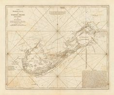 11 Awesome Maps: Bermuda images | Antique maps, Old maps, Vintage cards
