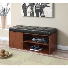 Convenience Concepts Designs4Comfort Liberty Storage Bench