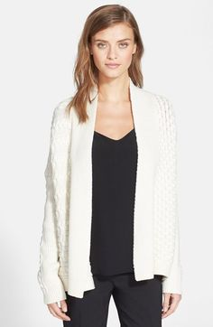Tory Burch Drape Cable Knit Cardigan