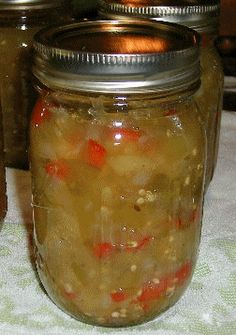 green tomato chow- Had this on my honeymoon on top of fish cakes. Great day!