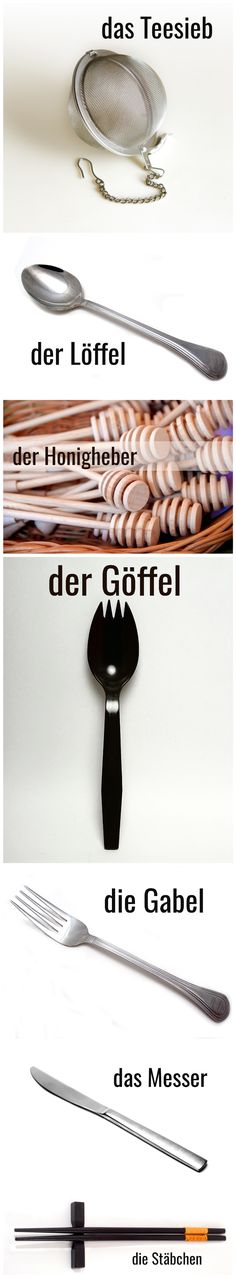 Besteck #Deutsch #German #Wortschatz
