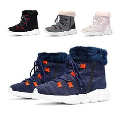 61f774fbf08f8 Great for Girls Boys Winter Snow Boots Fur Lined Warm Shoes Outdoor  Waterproof Booties for Women Lightweight Sneaker. [$32.99 - 39.99] findanew  from top ...