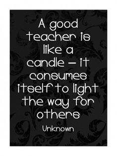 Candle for teacher gift + poem