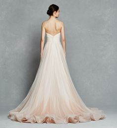 ♕ Dress Up ♕ kelly faetanini bridal spring 2017 strapless sweetheart ball gown wedding dress (florence) bv pocket ombre blush color horsehair Ombre Wedding Dress, Spring 2017 Wedding Dresses, Colored Wedding Dresses, Best Wedding Dresses, Spring Dresses, Wedding Attire, Gown Wedding, Spring Weddings, 2017 Bridal