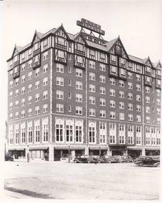 Alex Johnson Hotel, Rapid City c. 1950 image from blackhillsknowledgenetwork.org