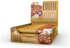 Buy Fulfil Peanut and Caramel Protein and Vitamin Bars 15 x at Argos. Thousands of products for same day delivery or fast store collection. Chocolate Wafers, Chocolate Coating, Chocolate Hazelnut, Chocolate Peanuts, Nutrition Food Chart, Nutrition Bars, Milk Protein, Protein Bars, Nutrition Sportive