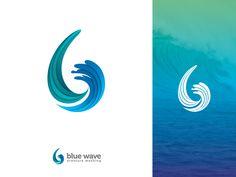 Blue Wave Logo Design brand and identity vector branding blue wave b wave logo logo Earth Logo, Water Icon, Waves Logo, Campaign Logo, Logo Creation, Principles Of Design, Green Logo, Blue Color Schemes, Creative Logo