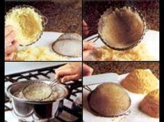 Receita de Cestinha de Batata Palha (faça a sua e coloque o seu recheio) - cestinha. Sirva com strogonoff, ou outra receita dentro de cada cestinha e arrume num prato sobre folhas de alface enxutas. Decore se desejar...
