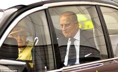 Day trip: Queen Elizabeth II and Prince Philip, Duke of Edinburgh arrive at the Sir Chris Hoy Velodrome in Glasgow