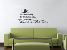 Vinyl Wall Decal Art Saying Decor Quote Life isn't about Waiting L2