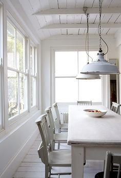 Fresh White painted farmhouse table