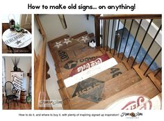 How to make old signs... on anything! Tips on how to do it, and where to buy what you need to do it with plenty of inspiration. #ebay