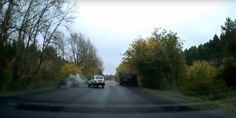Imagine you're driving along and suddenly, out of the blue a UFO appears in the sky. What do you do? If you're the driver in this video, then you crash. Violently.  This astonishing dashcam footage