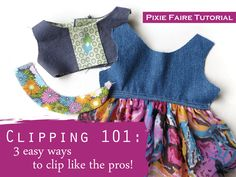 Clipping 101: Basic Clipping Skills free tutorial on Pixie Faire   Learn to sew!