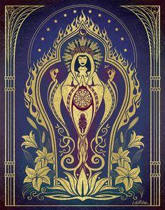 Sacred Mother - Global Goddess Series Digital Art