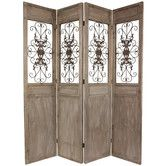 "Found it at Wayfair - 85.25"" x 72"" Railing Scrolls 4 Panel Room Divider"