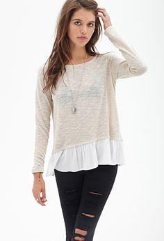 Crepe Layered Sweater #F21StatementPiece