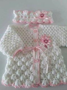Diy Crafts - Diy Crafts - Crochet baby gifts girl sweater patterns 69 Ideas for 2019 Crochet Wedding Dress Pattern, Crochet Baby Sweater Pattern, Crochet Baby Sweaters, Crochet Baby Jacket, Baby Sweater Patterns, Baby Girl Sweaters, Baby Girl Crochet, Crochet Bebe, Crochet Baby Clothes