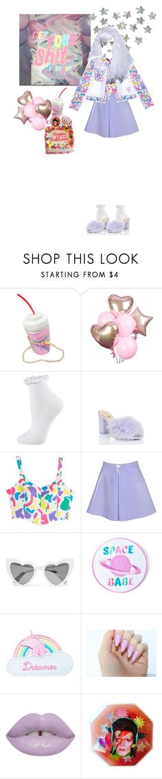 """""""PURPLE"""" by treasureforever ❤ liked on Polyvore featuring Fountain, Topshop, Moschino, Glamorous, Yves Saint Laurent, VFiles and Jazzelli Designs"""