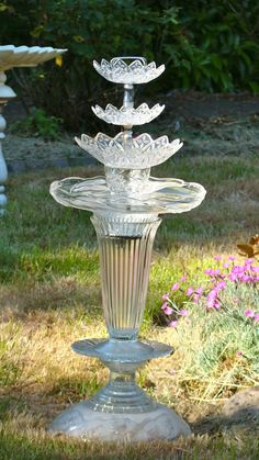 DIY Birdbath from recycled materials by Susan Scovil