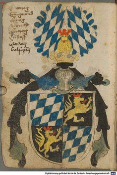 Ortenburger Wappenbuch Bayern, 1466 - 1473 Cod.icon. 308 u  Folio 15v