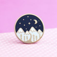 Seconds Sale Enamel Lapel Pin | Mountain Enamel Pin - Cute Pin for Jackets and Backpacks