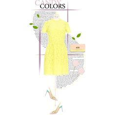 Valentino yellow lace dress (Top Fashion Sets for March 4th, 2014) by sophiek82 on Polyvore featuring polyvore, fashion, style, Valentino, Christian Louboutin, yellow, dress, lace, valentino and Louboutin