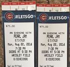 #Ticket  2 Pearl Jam Hard Tickets Together For Monday 8/22/2016 At Chicago Wrigley Field #deals_us