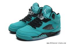 For Wholesale Air Jordan 5 Retro Green Black Mens Sneakers