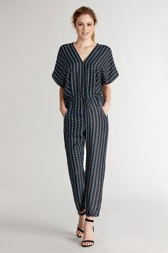Get active in this easy chic jumpsuit.