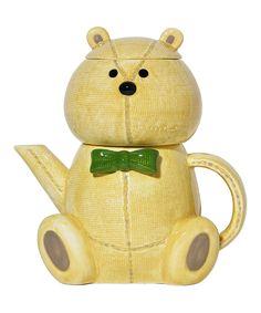 Teddy Bear Teapot Set - the head is the teacup! very cute!