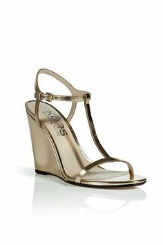 Kors Michael Kors metallic wedge sandals with ankle strap