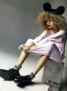highlikefashion:  Magdalena Frackowiak in Comme des Garçons shot by Anthony Ward for Vogue China