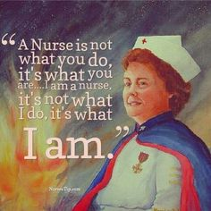 A nurse is what I am!