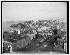 Vista de San Juan,principio del Siglo XX,Puerto Rico.