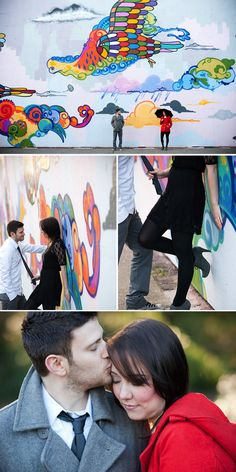 I love the idea of finding brightly colored murals around wherever I may be living and doing a photoshoot there!